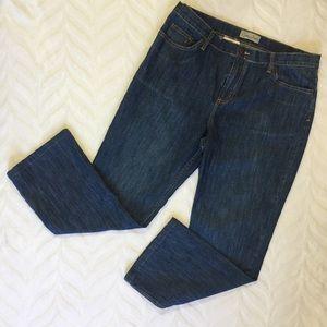Zena Jeans Straight Leg Dark Size 14
